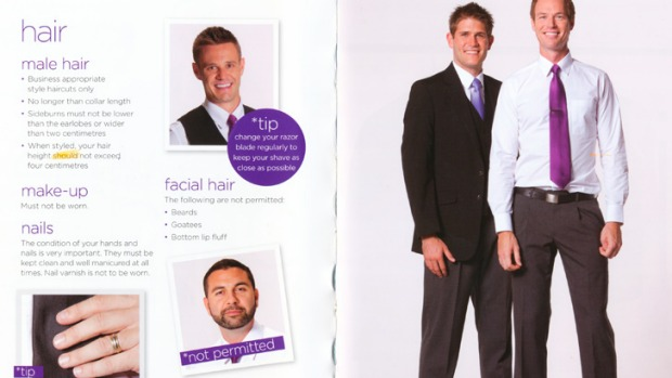 Rules in Virgin's employee styling guide, The Look Book.