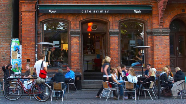 Travel karma: a cafe in Lund in Sweden's south.
