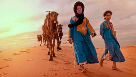 New faces: Sahara camel guides in Morocco.