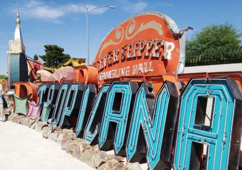 The outdoor gallery at the Neon Museum is known as the Boneyard.