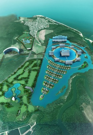 Artist's impression of the $4.2 billion mega-resort and casino proposed for far north Queensland.