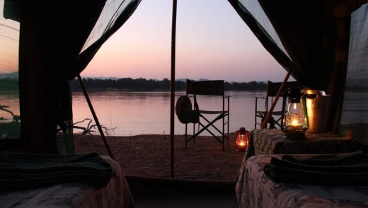 River view from a tent.
