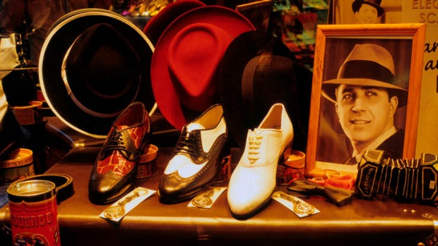 Global goods: a tango store in Buenos Aires.