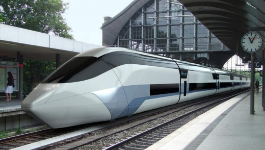 Fashionable impression: an artist's impression of a German-designed train of the future.