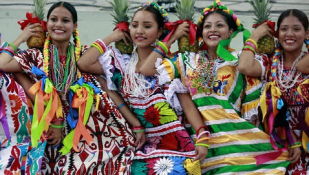 smh traveller aug 17 COVER Regional dancers perfom at the Guelaguetza festival on July 22, 2013 in Oaxaca, Mexico. The ...