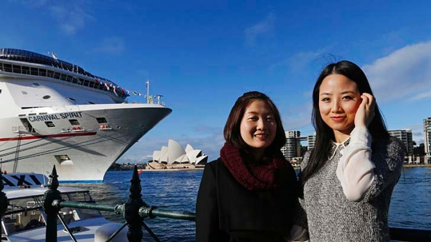 Chinese tourists in Sydney. Nearly 100 million Chinese tourists visited foreign countries last year.