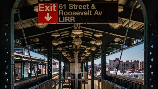 Woodside Subway Station in Queens.