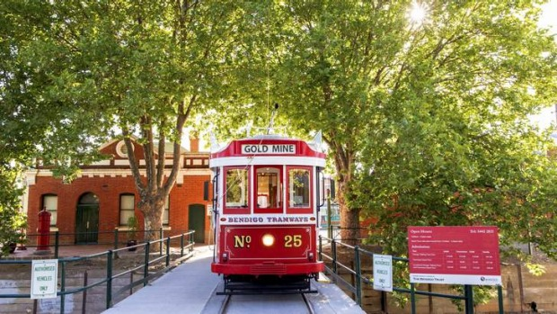 All aboard: See the sights on board a vintage tram.