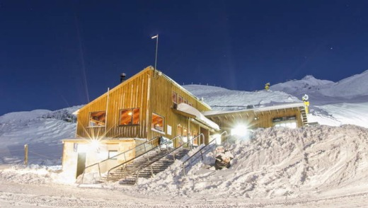 Heidi's Hut, a mountain chalet  at the base of the Rocky Gully T-bar.