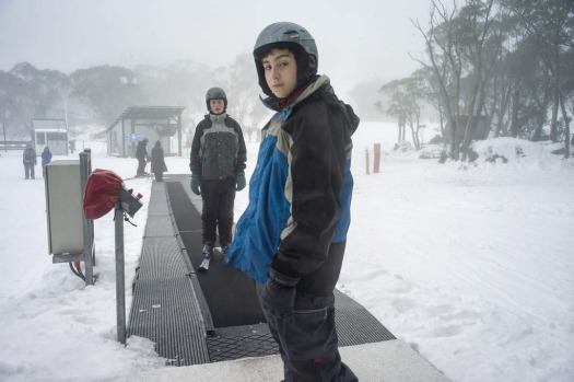 Ski enthusiasts visit Mount Baw Baw's Alpine Resort where the current natural snow depth reached 14 cm.