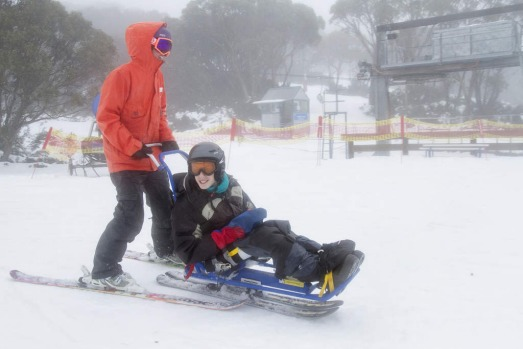 People have fun in the snow at Mount Baw Baw Alpine Resort.