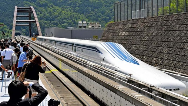 Faster than a speeding bullet train ... Japan is testing a maglev (magnetic levitation) train capable of reaching speeds ...