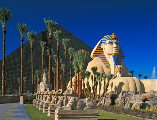 Embrace the tackiness: Take a look of some of the best theme hotels in Las Vegas. Pictured: The Luxor Hotel and Casino, ...