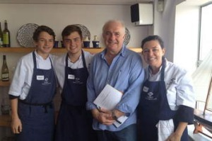 Rick Stein with Jane Southward and sons.