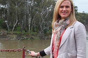 Sharelle McMahon at the Murray River's Echuca port.