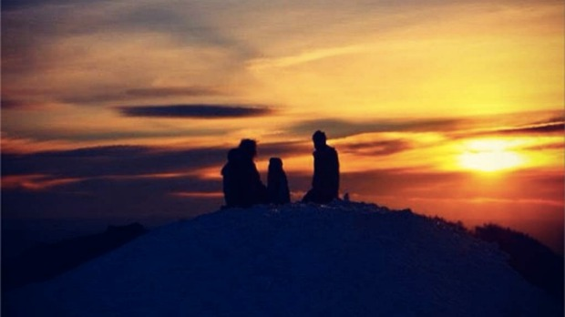 Summit sunset Mt Buller.