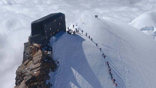 If Hitchcock were to have made a horror film in the Alps, it would have been at Rifugio Regina Margherita. The mountain ...