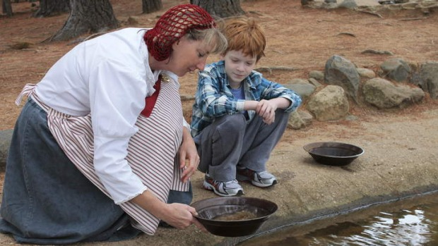 Diggin' it: Panning for gold in Bathurst.