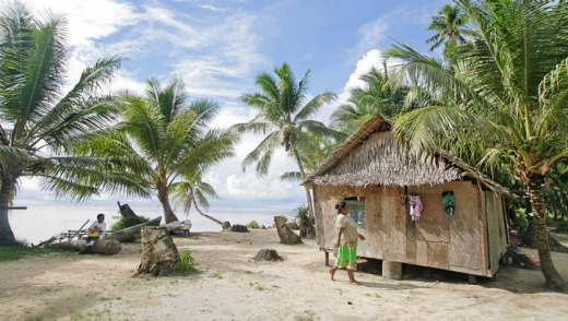 Walung, an isolated village in Kosrae, Micronesia.