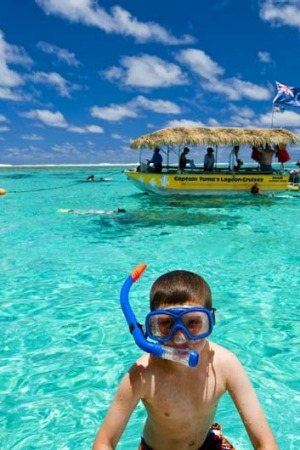 956ad8d18a3 Snorkelling for the whole family in the Cook Islands.