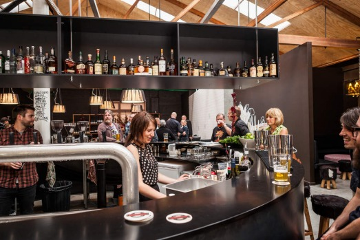 West Hobart. The Westend Pumphouse, combines elements of a restaurant, bar and coffeehouse into a single venue.