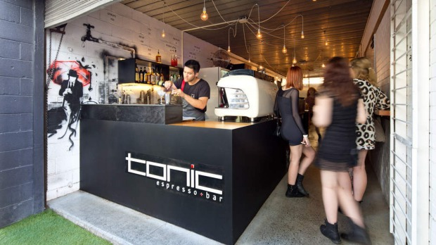 Fortitude Valley Fringe, Brisbane. Tonic Espresso + Bar is located down a laneway in one half of an architecture and design firm studio. Don't miss the house speciality, a killer espresso martini made from Tonic's own blend of coffee.