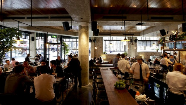 George St, Sydney. The Morrison Bar and Oyster Room draws crowds with its craft beers and burgers