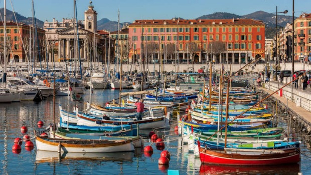 The colourful Nice harbour.