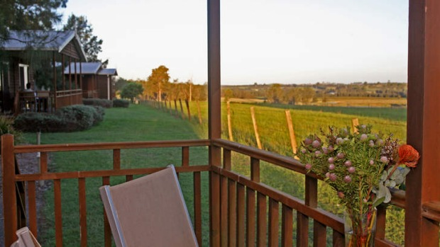 An ideal spot to watch the sun set over the vineyards.