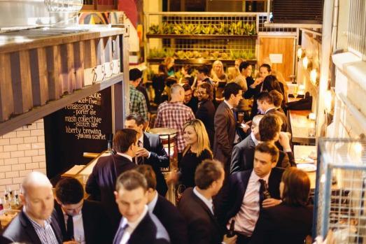 West End laneways, Adelaide. Udaberri mixes Spanish pintxos dishes with cocktails, beer and a beautiful crowd.