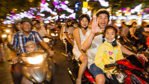Water to wheels: Ho Chi Minh City, in Vietnam, is a popular overnight port.