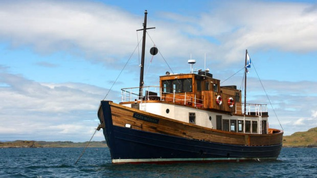 New life: Once a fishing vessel, the Glen Massan is now a cruise ship.