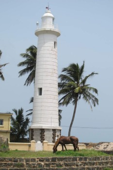 Lighthouse at Galle Fort, Galle, Sri Lanka.