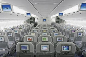 Japan Airlines JAL economy class.
