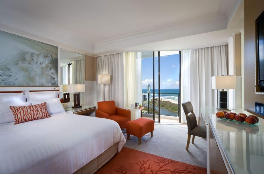 The Surfers Paradise Marriott Resort and Spa standard room.