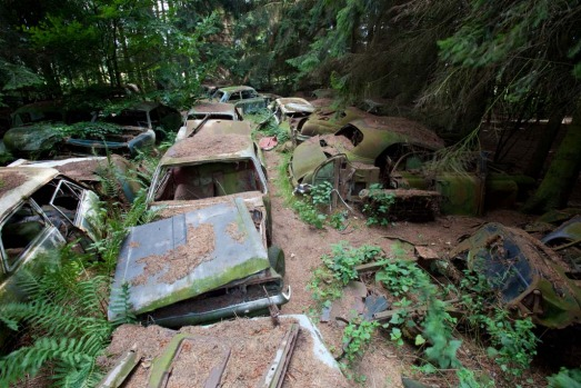 The Chatillon Car Graveyard. Where: Just west of Chatillon, Belgium. In a small patch of forest, just to the west of the ...