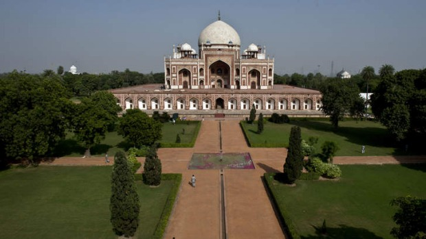 Humayun's Tomb, one of New Delhi's most famous monuments, inspired the Taj Mahal.
