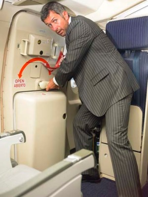 The reality is you couldn't open the plane door at cruising altitude, even if you wanted to.