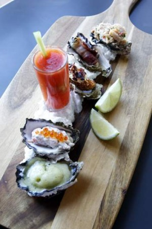 Twine's oyster-tasting plate.