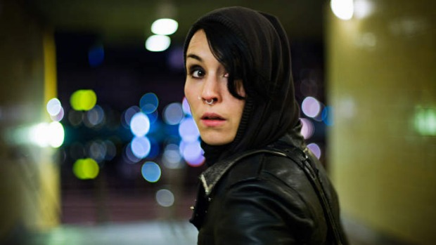 Noomi Noren as Lisabeth Salander in <i>The girl with the dragon tattoo</i>.