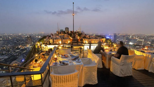 Banyan Tree Rooftop Vertigo & Moon Bar, Restaurant, , Bangkok.