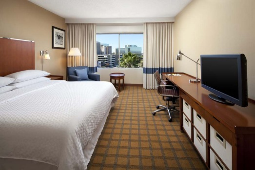 CHEAP AND CHEERFUL: Four Points by Sheraton Los Angeles International Airport. 