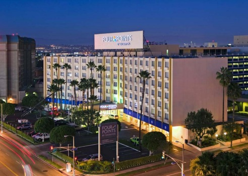 CHEAP AND CHEERFUL: Four Points by Sheraton Los Angeles International Airport. LAX has little to recommend it, but this ...