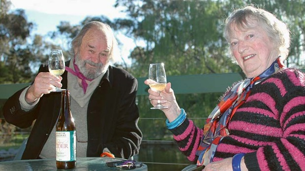 Chef and author Peter Russell-Clarke and his wife, Jan.