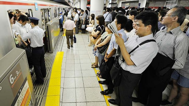 Tokyo's train system features 13 lines and nearly 300 stations over 195 kilometres of track, putting one train on each ...