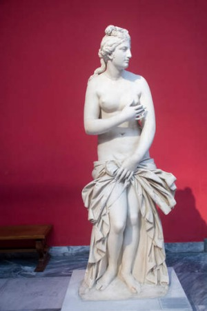 A marble statue of Aphrodite, the godess of love and beauty, National Archaeology Museum.