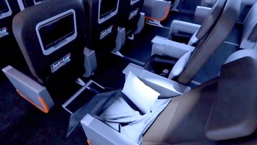 Jetstar's Dreamliner seats feature 38 inches of space (pitch) in business and 30-31 inches in economy.