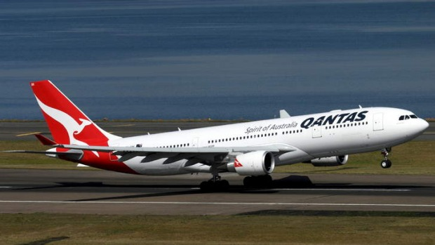 Forced to turn back: A Qantas A330.