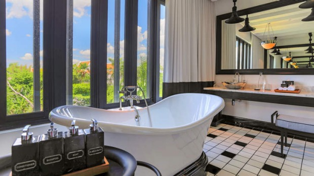 Bangkok bliss:  Soak up the style of The Siam's bathroom and suites.