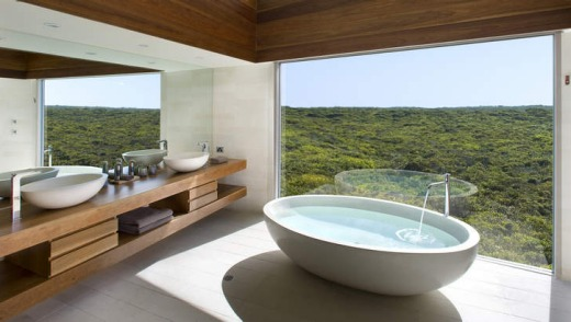 Splashout: A bathroom to die for at Southern Ocean Lodge.